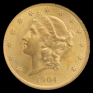 1904 $20 LIberty PCGS MS65 CAC