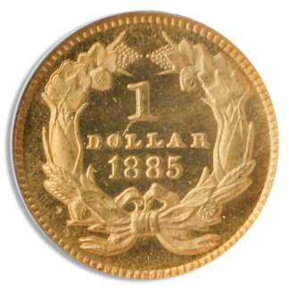 1885 $1 Gold NGC PR66 Cameo