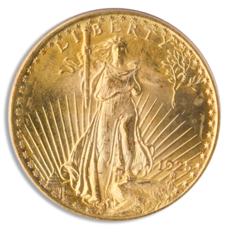 1925 $20 Saint Gaudens PCGS MS65 CAC