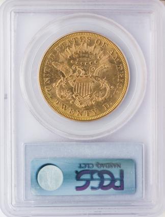 1873-S $20 Liberty Closed 3  PCGS MS61