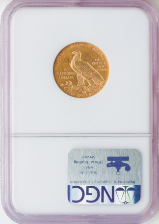 1909-O $5 Indian NGC AU58 CAC