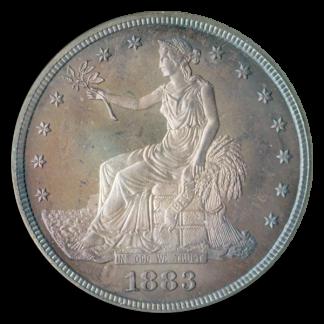 1883 Trade $1 NGC PR67 CAC