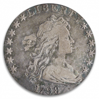 1798 DRAPE BUST $1 PCGS VF25 CAC