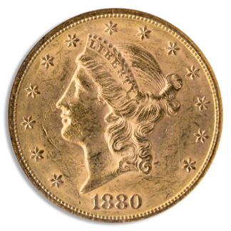 1880-S $20 Liberty NGC MS61 CAC
