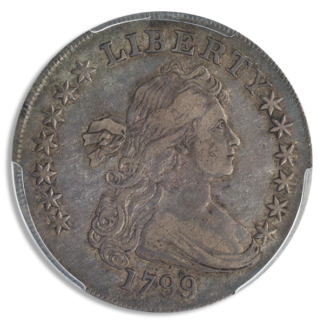 1799 Draped Bust $1 Irregular Date 13 Stars PCGS VF30 CAC