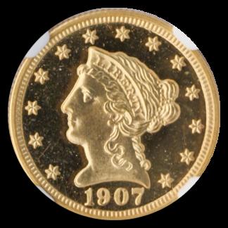 1907 $2 1/2 Liberty NGC PR66 Cameo CAC