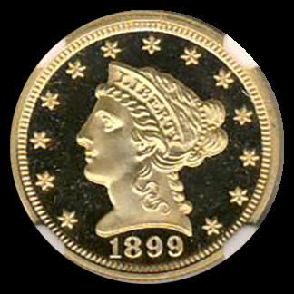1899 $2 1/2 Liberty NGC PR67 Ultra Cameo CAC