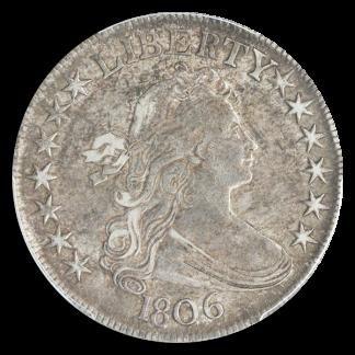 1806 Draped Bust Half Dollar Pointed 6 Stems PCGS AU53 CAC