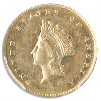 1856-S Gold $1 SSCA POD PCGS AU58 CAC
