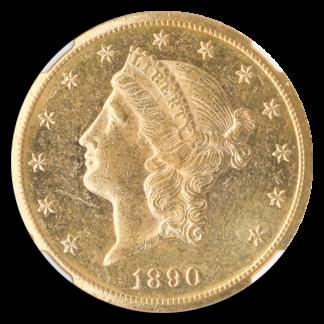 1890-CC $20 Liberty NGC AU58 CAC +