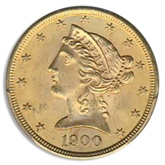 1900 $5 Liberty PCGS MS65 CAC