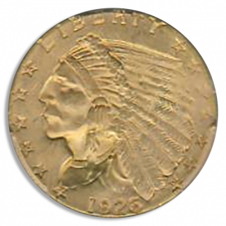 1926 $2 1/2 Indian PCGS MS65 CAC