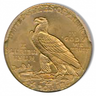 1909 $2 1/2 Indian PCGS MS65 CAC