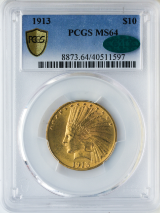 1913 $10 Indian PCGS MS64 CAC