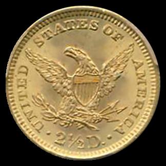1900 $2 1/2 Liberty PCGS MS66 CAC