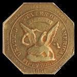 1851 $50 Humbert Reeded Edge .880 NGC AU53 CAC