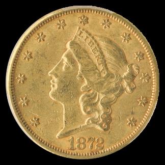 1872-CC $20 Liberty PCGS AU53