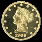 1906 $10 Liberty PCGS PR66 Cameo CAC