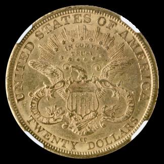 1877-CC $20 Liberty NGC AU55
