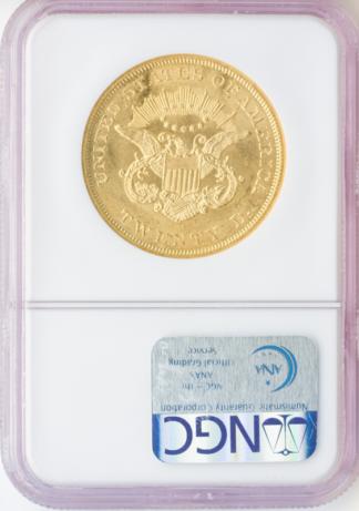 1861 $20 Liberty S.S. Republic NGC MS60 CAC