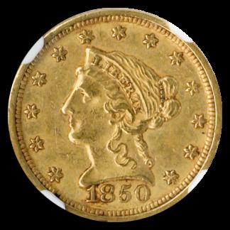 1850-D $2 1/2 Liberty NGC AU58 CAC