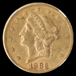 1882-CC $20 Liberty Gold Coin NGC AU55 CAC
