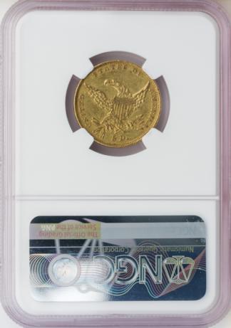 1834 $5 Classic Plain 4 NGC AU53 CAC