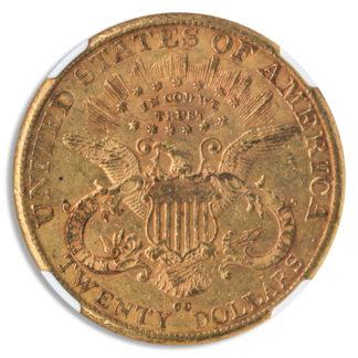 1890-CC $20 Liberty NGC AU55 CAC