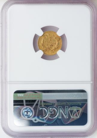 1855-O $1 Type II NGC AU53 CAC