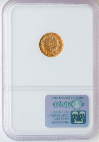1859-S $1 Gold NGC AU55