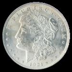 1921 Morgan $1 PCGS MS63
