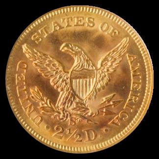 1856-S $2 1/2 Liberty SSCA PCGS MS65 CAC