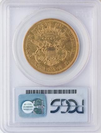 1871-CC $20 Liberty PCGS AU53