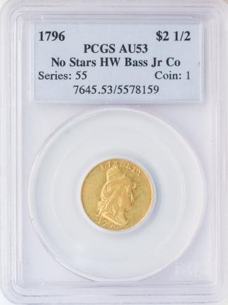 1796 $2 1/2 Draped Bust No Star PCGS AU53