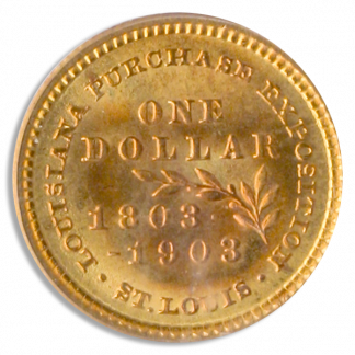 1903 Louisiana Purchase McKinley Gold $1 Commemerative PCGS MS66 CAC