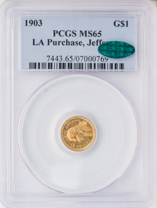 1903Louisiana Purchase  Jefferson $1 PCGS MS65 CAC