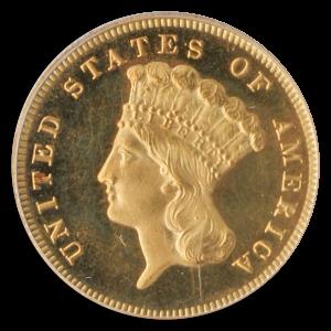 1880 3 Dollar Indian Princess Obverse