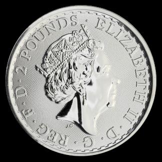 Any Date 1 oz British Silver Britannia Coin (BU, Dates Vary)