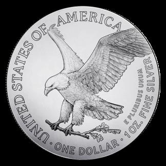 2021 500 oz Monster Box American Silver Eagle Coins (BU, Type II)
