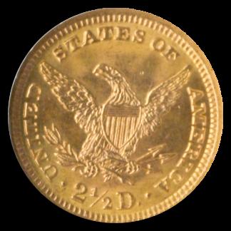 1893 $2 1/2 Liberty NGC MS65