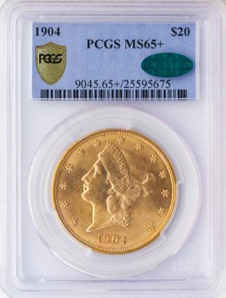 1904 $20 Liberty PCGS MS65 CAC +