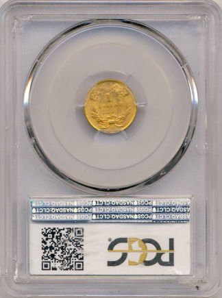 1854 $1 Gold Type II PCGS MS65 CAC +