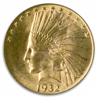 $10 Indian MS63 Certified