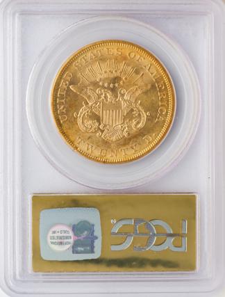 1857-S $20 Liberty SSCA PCGS AU53