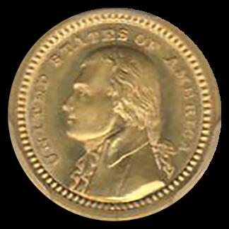 1903 $1 Gold LA Purchase Commemorative PCGS MS66 CAC