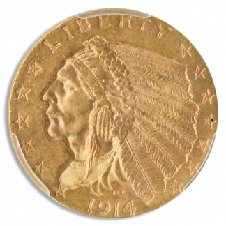 1914 $2 1/2 Indian PCGS MS64 CAC