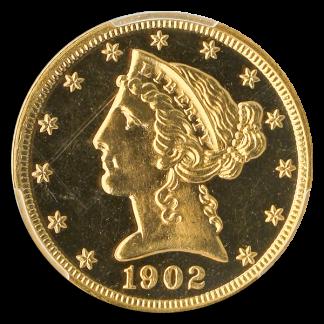 1902 $5 Liberty PCGS PR66 CAC Cameo