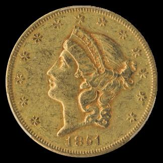 1851-O $20 Liberty PCGS XF45 CAC
