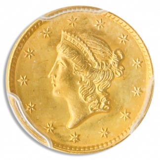 1851 $1 Gold Ty 1 PCGS MS66 CAC +