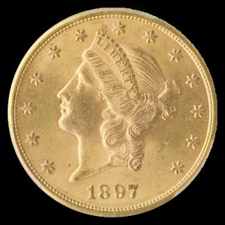 1897-S $20 Liberty PCGS MS64 CAC